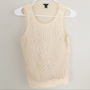 Ann Taylor Rope Embroidered Top